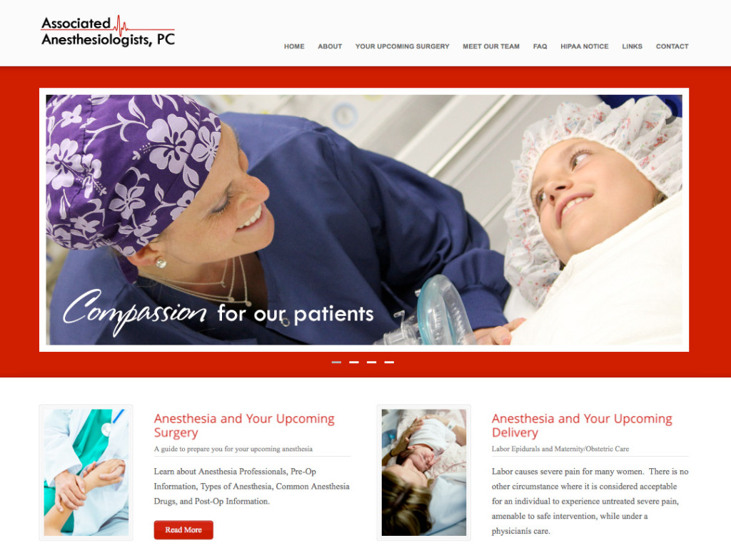 Associated Anesthesiologists PC Website