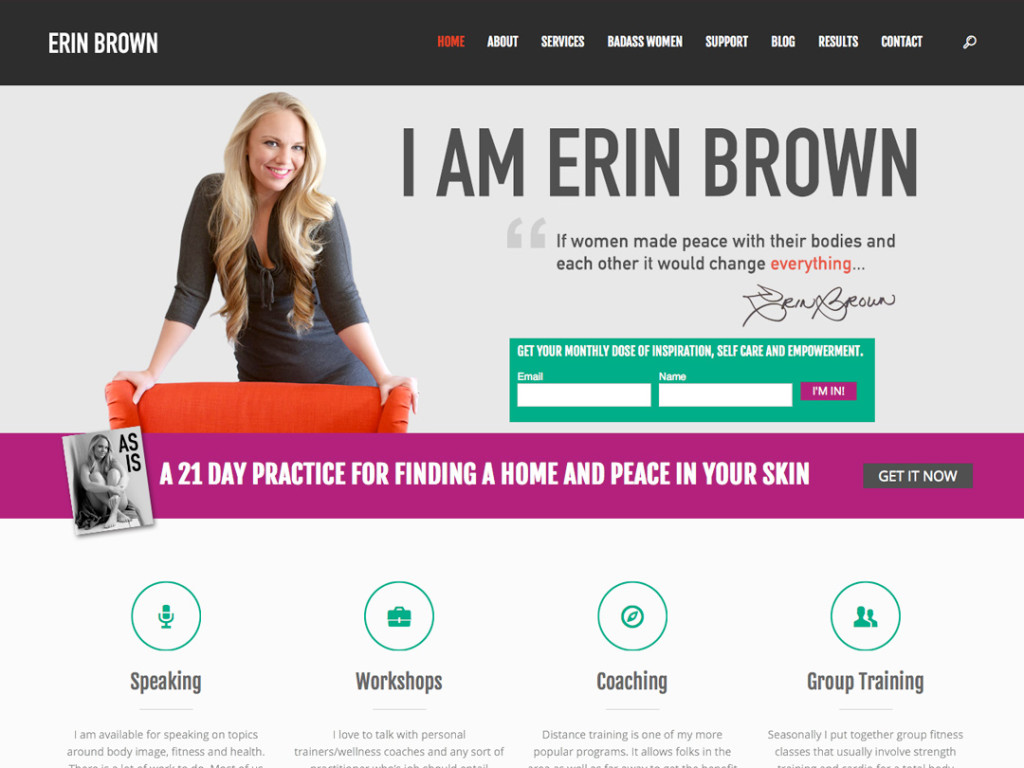 Erin Brown Website