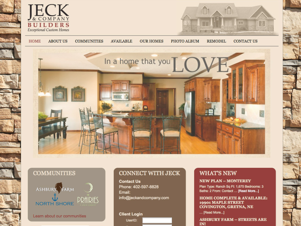 Jeck Builders Website