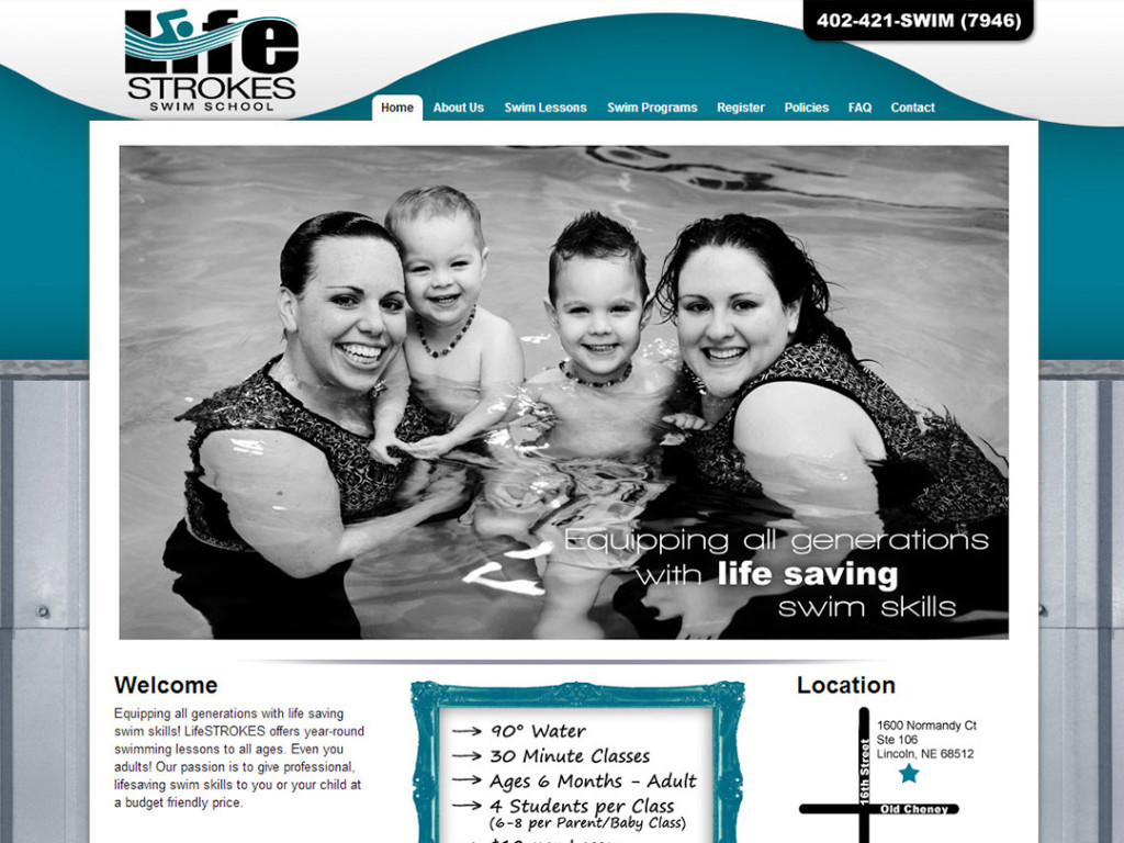 LifeStrokes Swim School Website