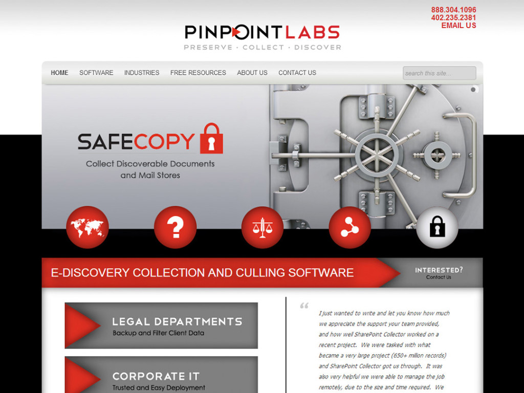Pinpoint Labs Website