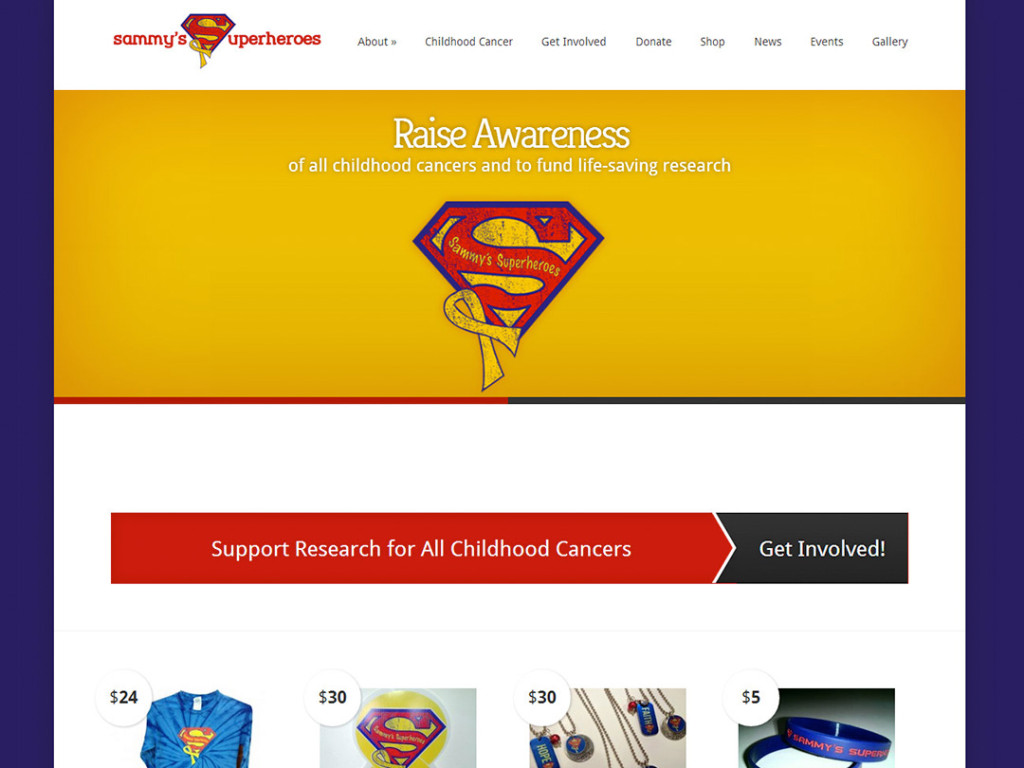 Sammy's Superheroes Website