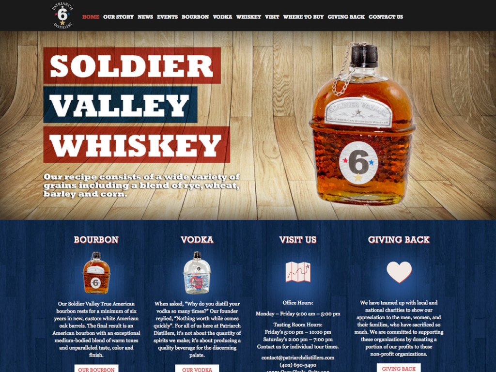 Soldier Valley Spirits Website