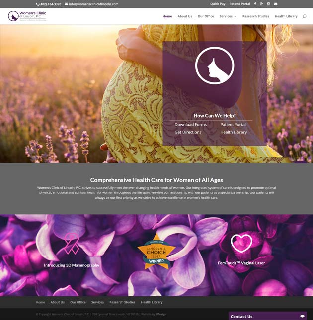 womenshome  Longmont Website Design Image